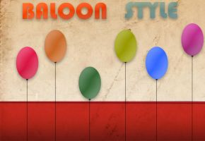 Ballon style by widepngstock