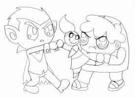 Fighting Like Children - Collab by Strudel--Cutie4427