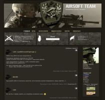 Airsoft Team site by SXSaix by webgraphix