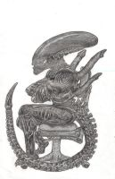Xeno in an Office Chair by WarriorAlien