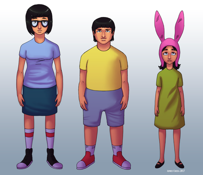 Tina, Gene, and Louise by azraelengel
