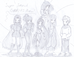 Super Smash...Gamers Brawl? by Kimeria87