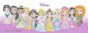 Disney Princesses by diegio1996