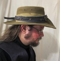 Aussie Hat with Blue Leather and Copper Hatband 2 by Windthin