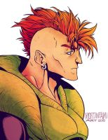 Dragonball Z - Android 16 by mortinfamiART