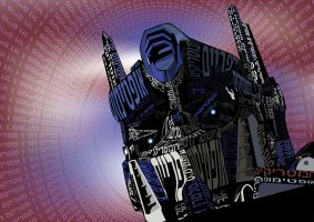 Optimus Prime Text by elic22