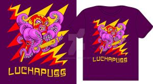 LuchaPuss t-shirt design by rawjawbone