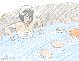 Bath time IchiRuki sketch by NeoRuki