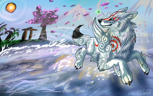 Okami: Where the Earth meets the sky by DragonDodo