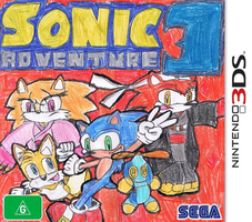 Sonic Adventure 3 english 3DS cover by Dengen-Toshiko