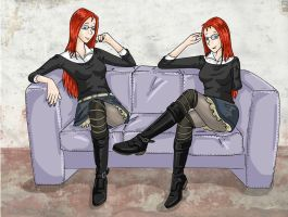 Twin's sofa by excilion