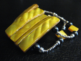 Yellow Nacre Duel Bracelet by sampdesigns