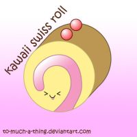 kawaii swiss roll by to-much-a-thing