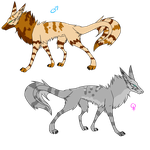 striped wolves adoptable by cutedog-Adoptables