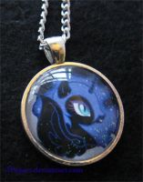 Nightmare Moon Pendant by JPepArt