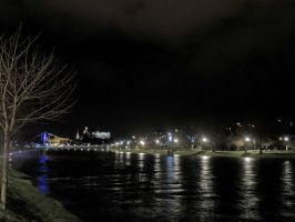 Inverness at night by piglet365