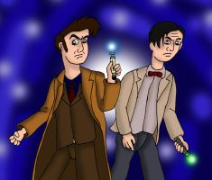10th and 11th Doctor by Irishhips