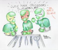 Aug NATG2012 8: Cutie Mark Crusader Surgeons, Yay! by KuroiTsubasaTenshi