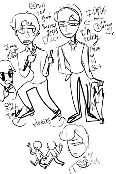 I can't draw teen mycroft and its 2am by TheWordInstantly