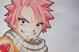 Tegami Art No.17 .:Natsu Dragneel colored:. by SakakiTheMastermind