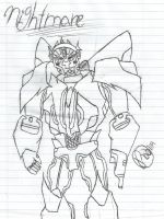 Redesign on Nightmare: OC Uncolored by raelynn109