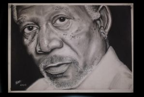 Morgan Freeman portrait by brentonmb