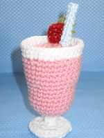 Strawberry Milkshake Amigurumi by cuteamigurumi