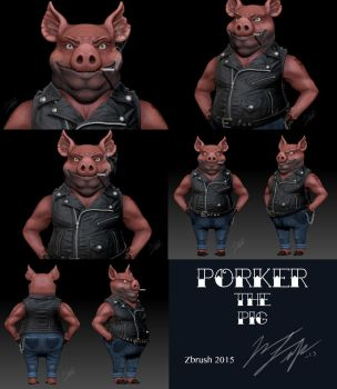 Porker The Pig by RedCoaster