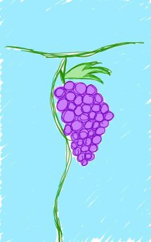 grapes sketch by Fedeltaflame