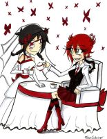 Manical Artist contest entry Tea-time-wedding by TheSSSteam