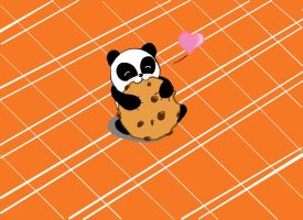 Panda eating a cookie. by Retro-Eternity