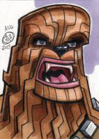 Chewbacca Sketch Card by Chad73