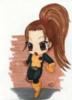 Chibi Kitty Pryde 'Shadowcat' by mumblingwildebeest