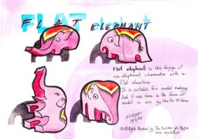 Flat elephant character design by sw-eden