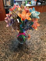Origami Bouquet by ChibiCelloKing