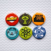 Big Bang Theory - Pinback Badge, Magnet or Sticker by AcrylicAvenger