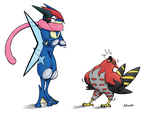 Talonflame and Greninja Page 3. by Rohanite