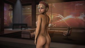 Dani relaxes at Shepard's appartment 3 by nightb0y