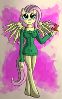 Fluttershy anthropomorphism (in color) by malamol