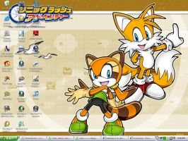 Marine and Tails desktop by Mephiles12