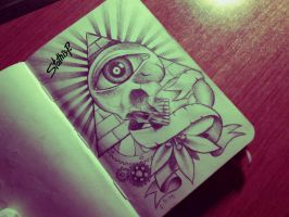 illuminati skull eye by StathisP