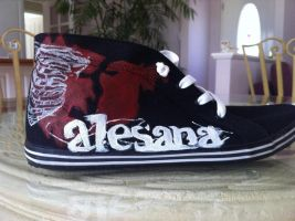 Painted Shoes- Alesana by Imsarahx