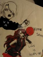 Vocaloid OC Love is war-sketch by A-dellaMorte