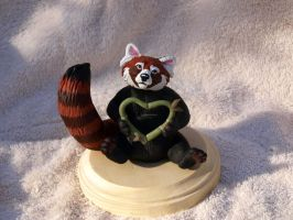 I Heart You Red Panda by WickedSairah