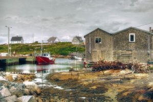 Peggys Cove Village by ShawnaMac