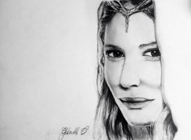 Lady Galadriel by GabrielleC-Drawings