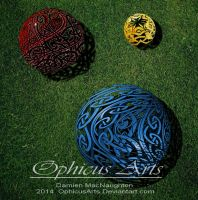 Celtic Spheres by OphicusArts
