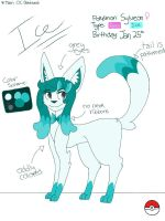 Ice the Sylveon Ref. Sheet 2013 by sophisticatedghost