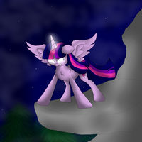 Twilight_Sparkle_The Fight of the Ever Free Forest by xKingSombra324