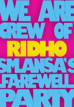 id card of smansa farewell party (typograph) by ridhogillang